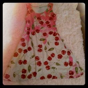 Cherry print skater dress